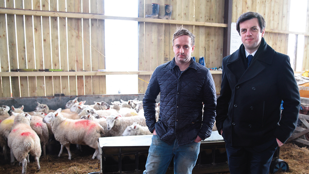 Matt Rogers (left) with his local NFU Mutual Agent Mike Hadfield.