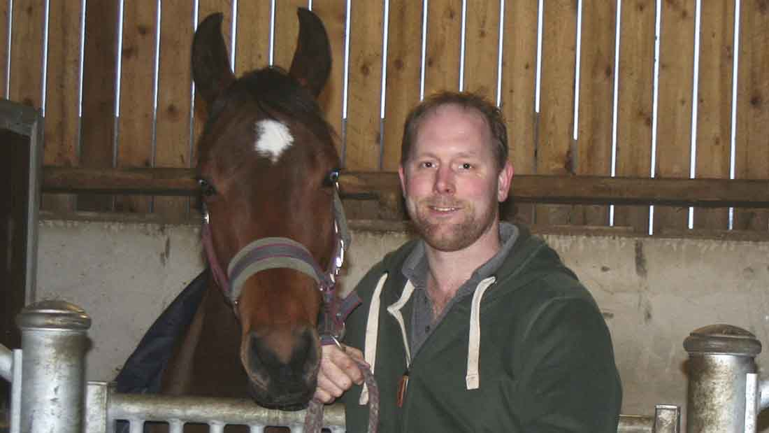 Ex-dairy farmer Leonard Metcalfe has successfully established a livery yard.