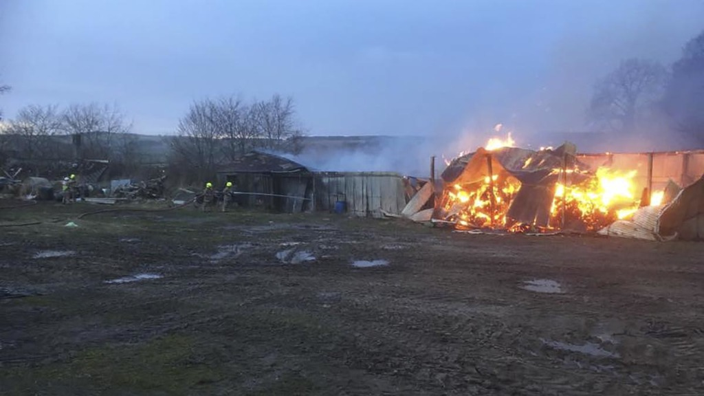 Farmer criticises police for lack of response to barn fire