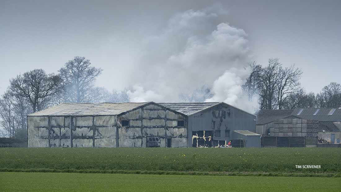 The barn fire at Bukehorn Road, Thorney, was said to be deliberate.