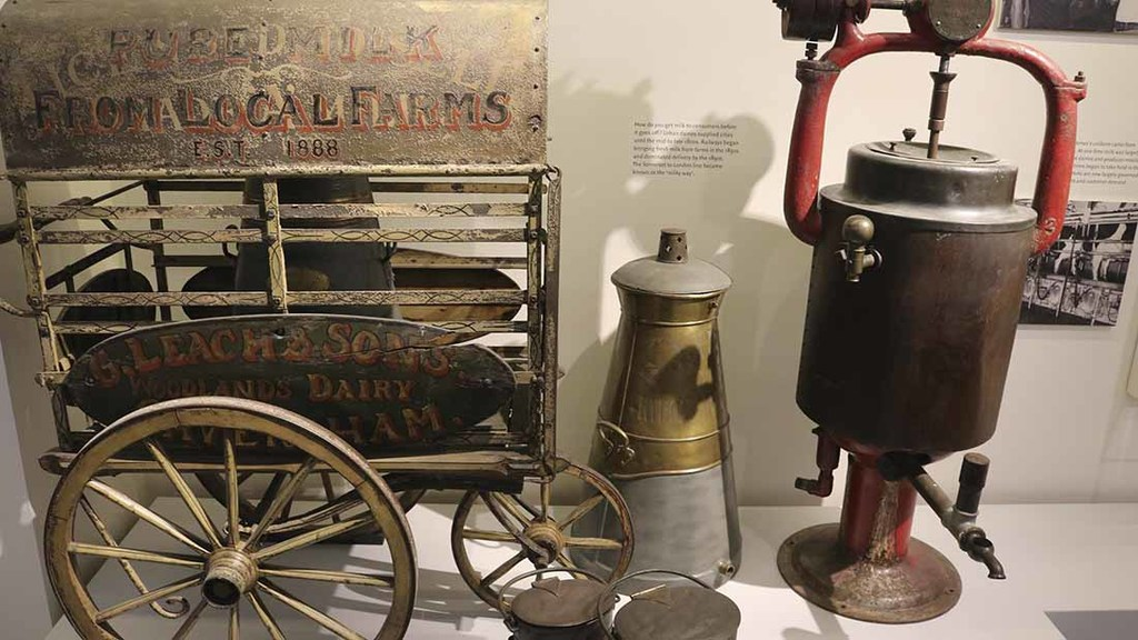 Milk cart and a pasteuriser