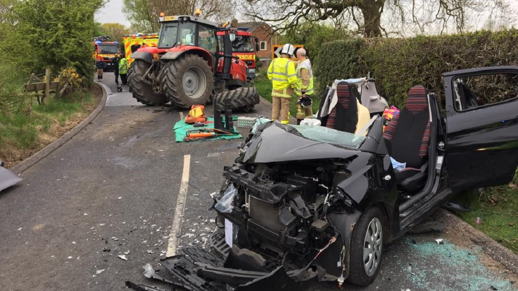 'It could easily have been fatal' -  lucky escape for tractor driver after crash