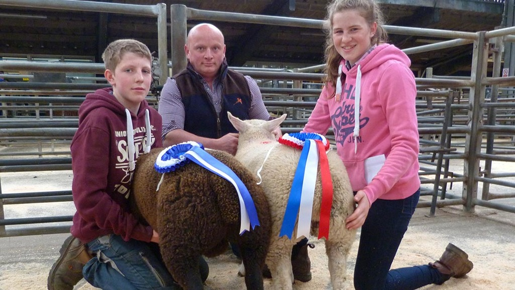Champion Emily Hunter, Annan and reserve Jack Richardson, Mealsgate.