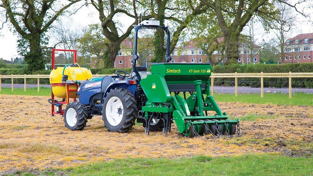 Cropping a hectare of land using only automated machinery - Harper Adams' robot tractor gets to work