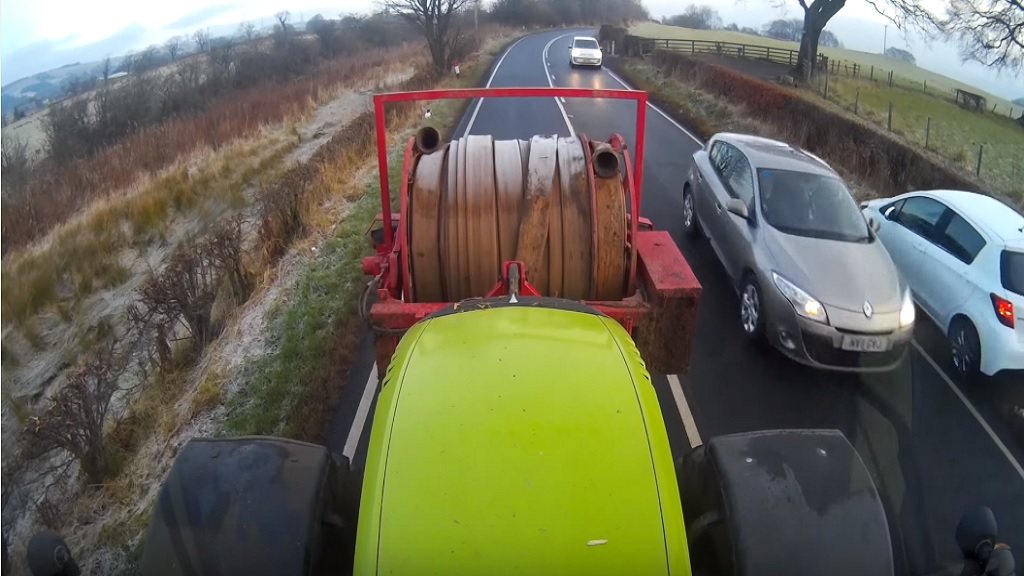 VIDEO: Farm worker demands 'more respect' from drivers after near-misses caught on camera