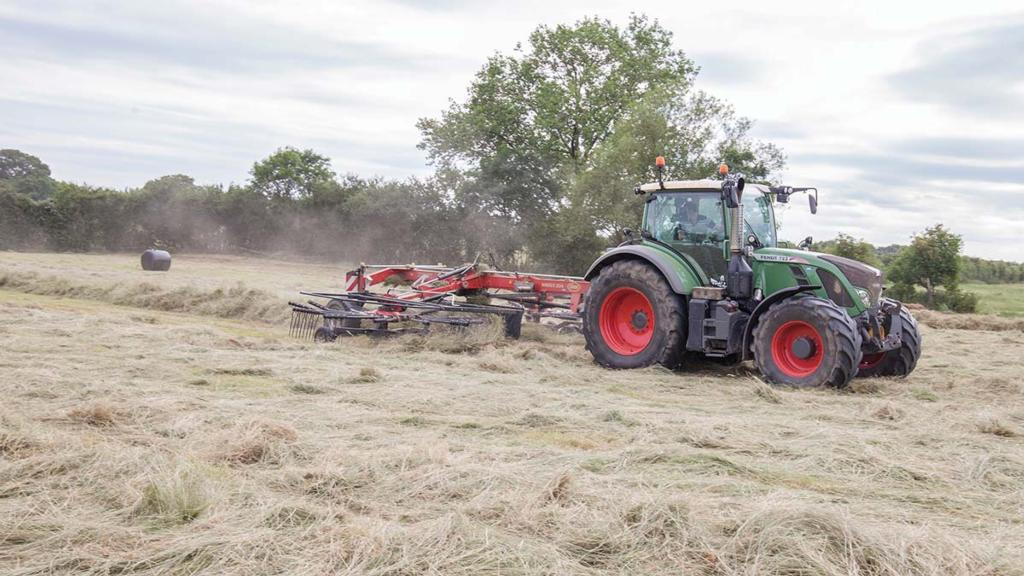 The latest addition to the tractor fleet is a Fendt 772
