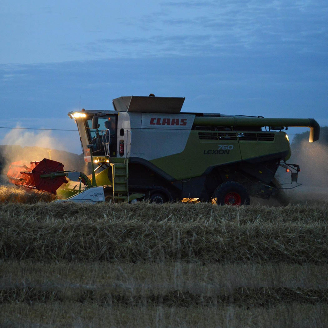 Night-time harvest near Newbury