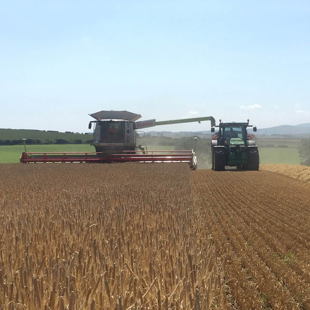 Barley harvest has started for David Fuller at McGregor Farms in the Scottish Borders