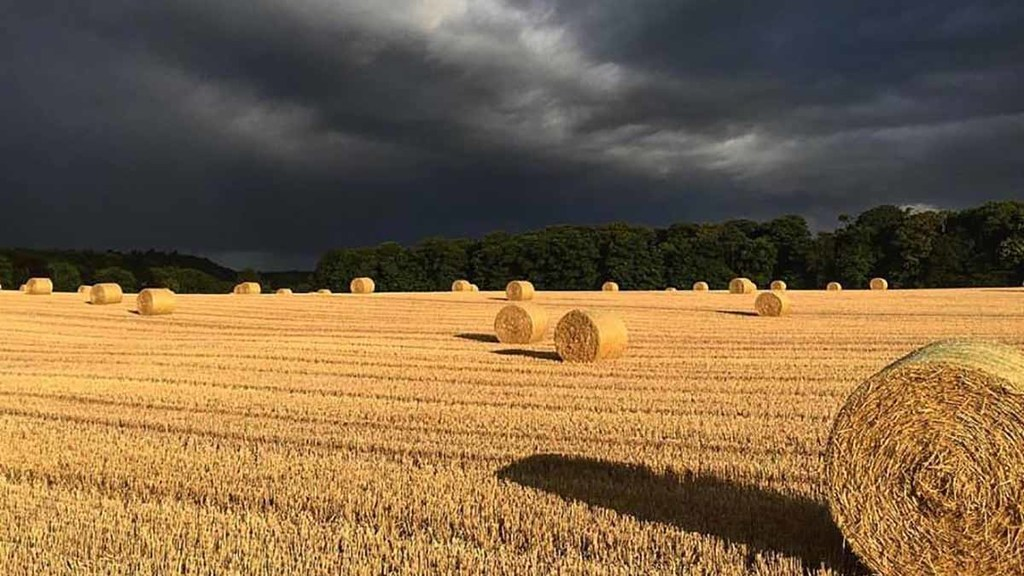 Threatening skies in north east England