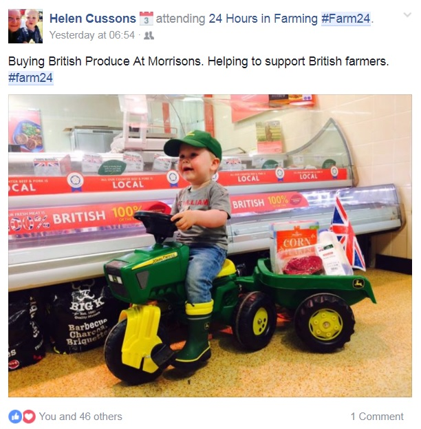 13. Best overall Facebook post: A ticket to this year's British Farming Awards