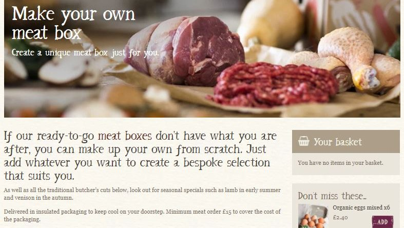 Create your own meat box