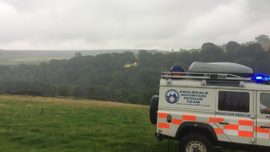 Farmer falls 80ft down gully after tractor overturns while spreading slurry
