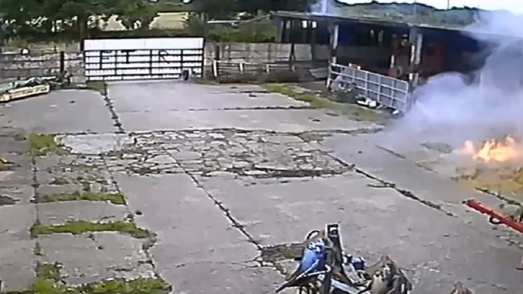 CCTV APPEAL: Police hunting three men after suspected arson attack on farm