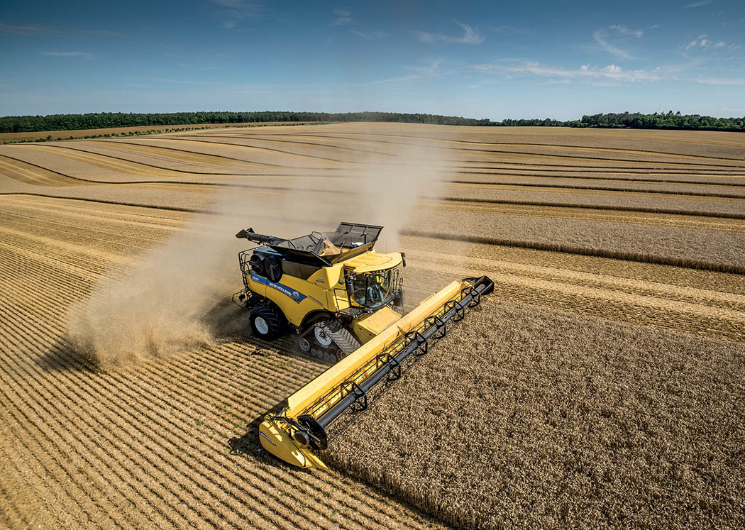 New Holland's CR10.90 is currently the most powerful combine on the market, churning out up to 700hp