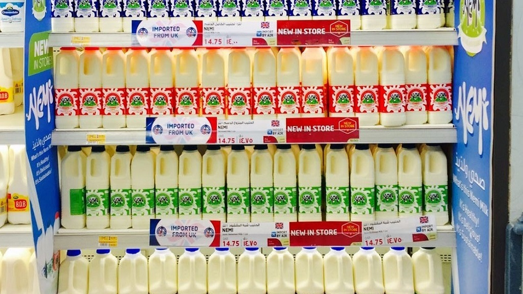 British dairy celebrating maiden Middle East export success