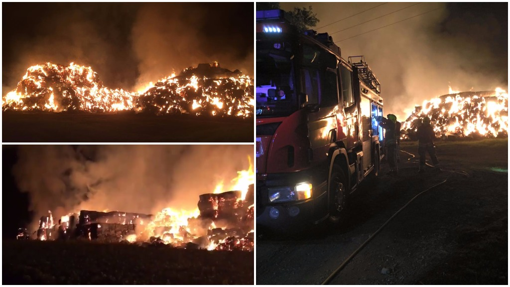 IN PICTURES: £150,000 worth of straw destroyed in suspected arson attack