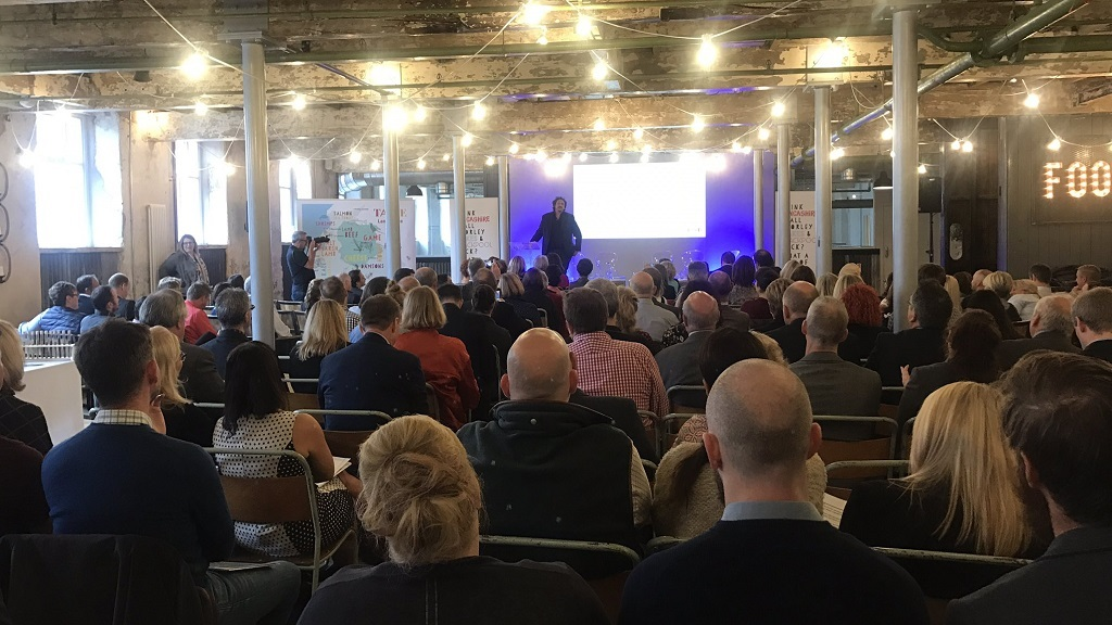 Jay Rayner speaking at the Taste Lancashire event (CREDIT: Holmes Mill)