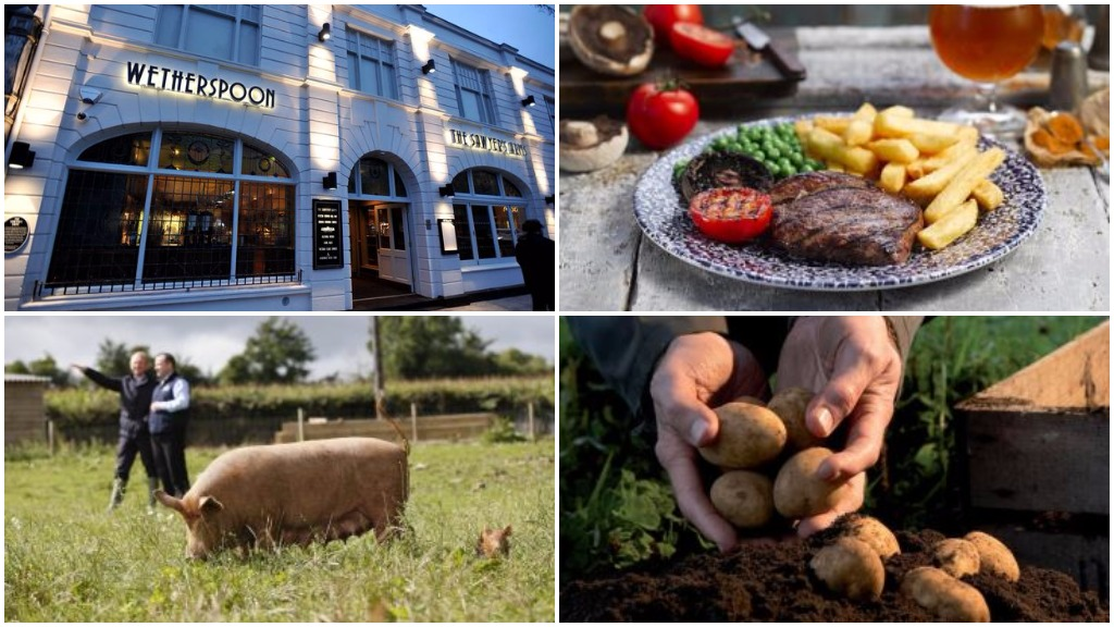 Pub giant JD Wetherspoon backs farmers with new menu
