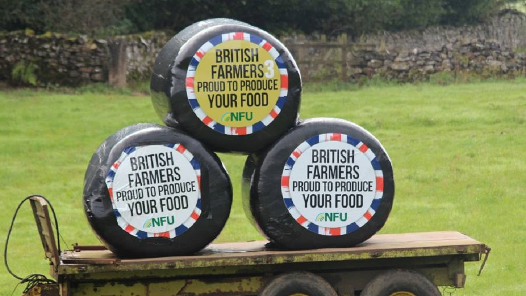 #ProudToProduce bale stickers spreading important message on farms
