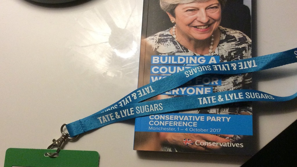 Conservatives under fire for backing imported sugar with conference lanyards