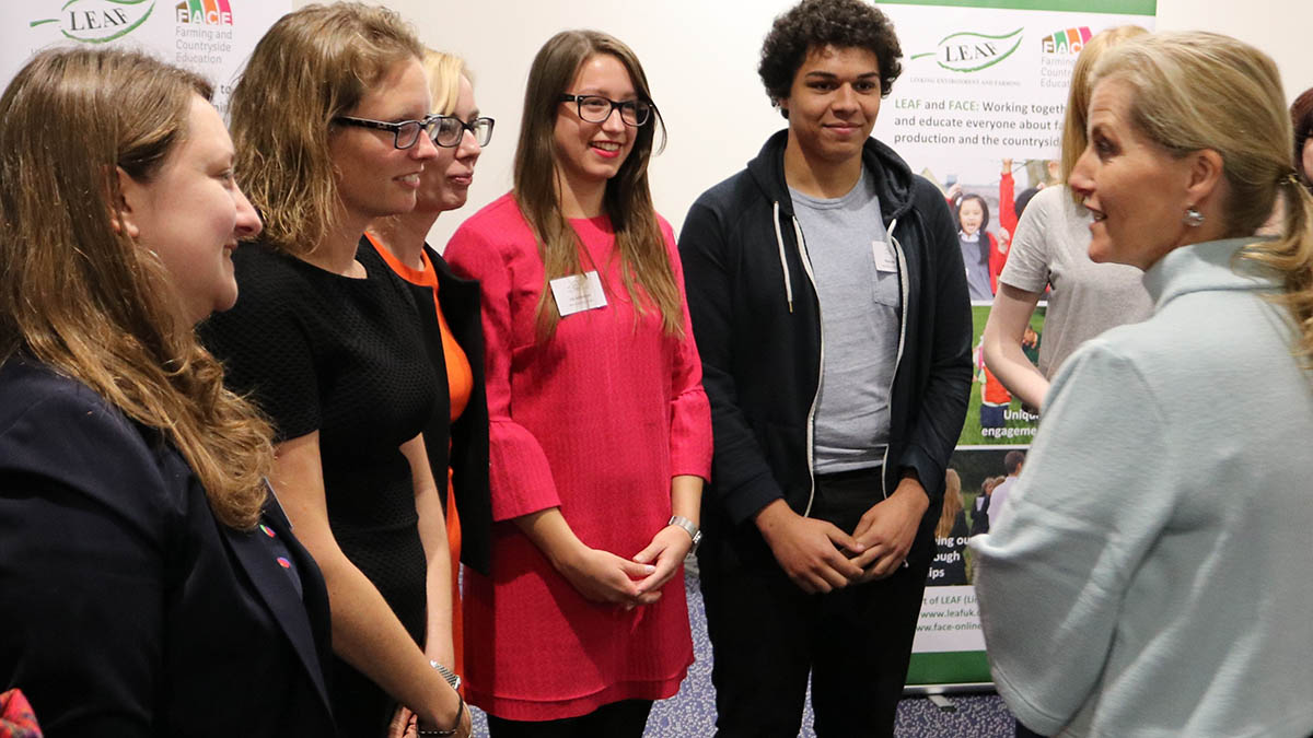 Speakers at the event with HRH The Countess of Wessex (right).