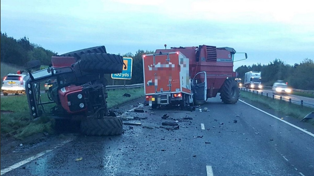 UPDATE: Safety warning after tractor and combine harvester involved in crash