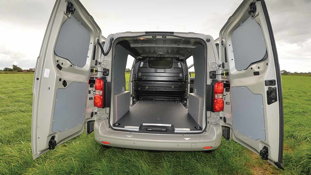 Two sliding side doors and 180 degree opening rear doors allow convenient access.