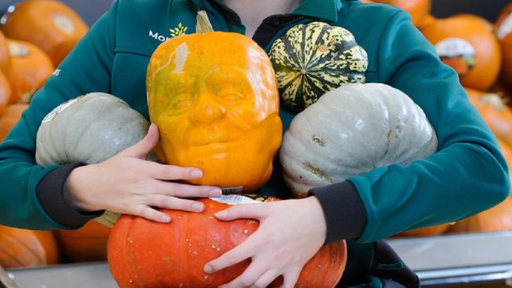 A UK farm is producing scary pumpkins in the shape of Frankenstein's monster