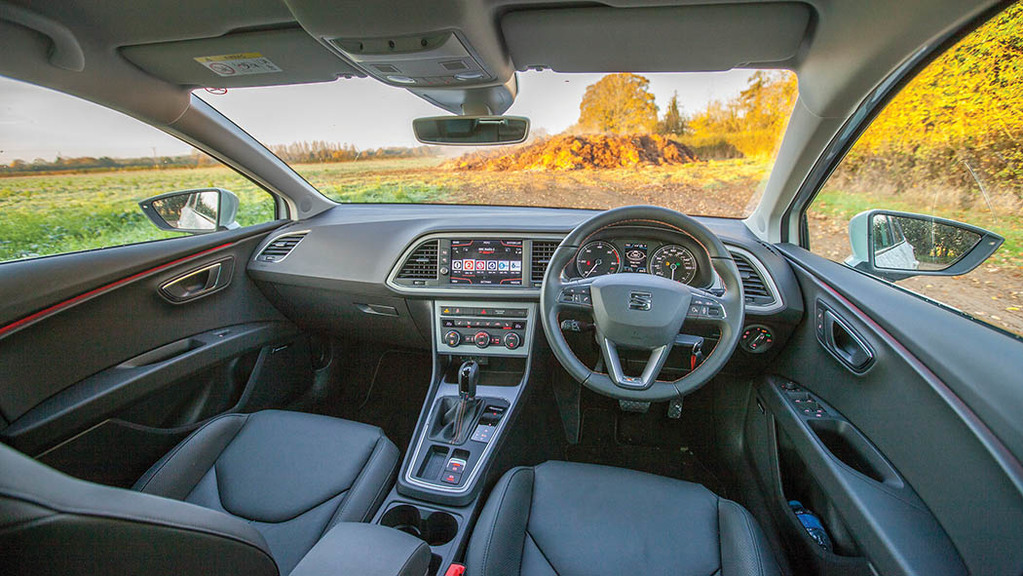 The interior boasts style and comfort.