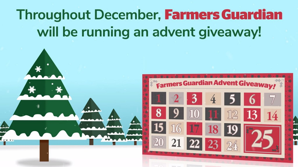 Win prizes with the Farmers Guardian advent calendar giveaway!