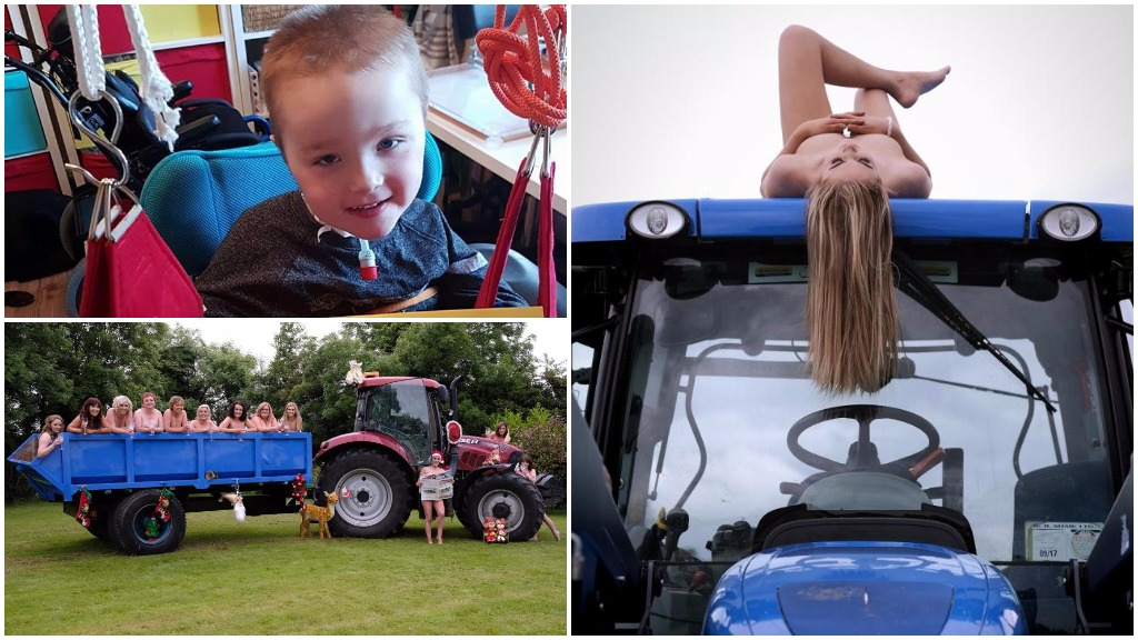Tractor Girls calendar launched to help farmer's son battling rare condition