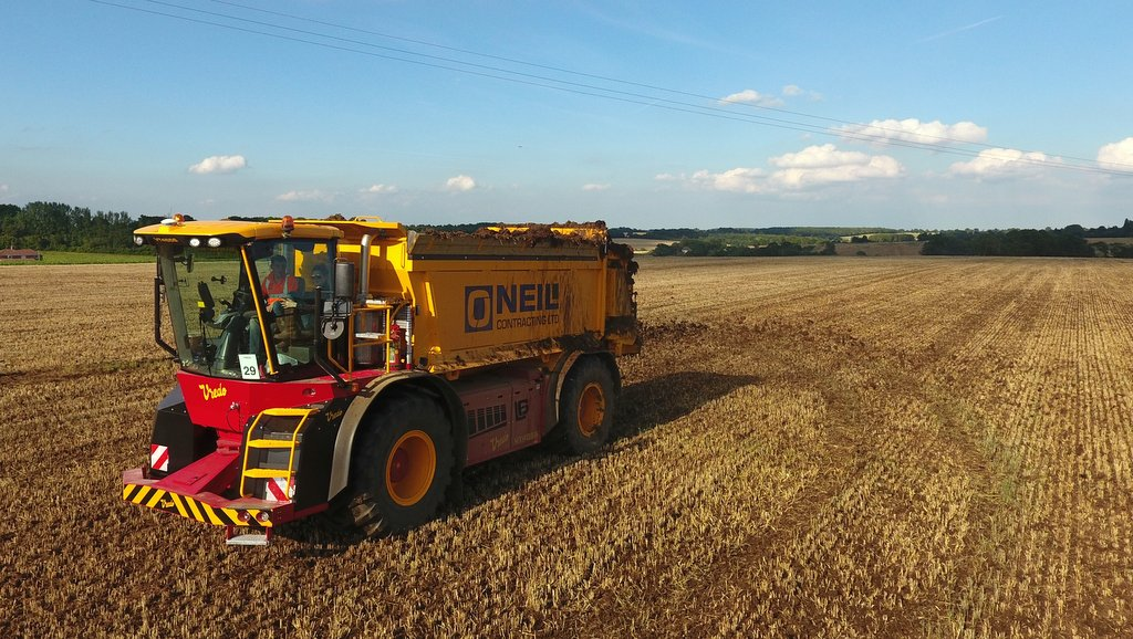 O.J. Neil Contracting's outfit includes six Vredo self-propelled biosolid spreaders.