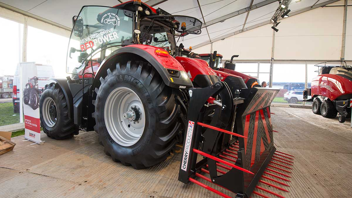 Case IH Optum reverse drive tractor