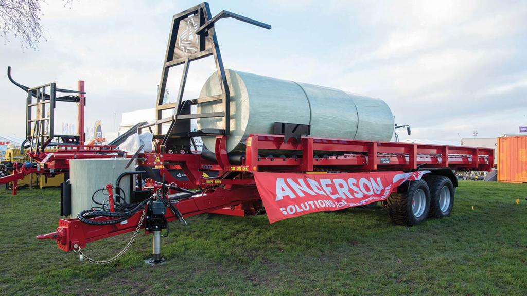Anderson self-loading bale trailer