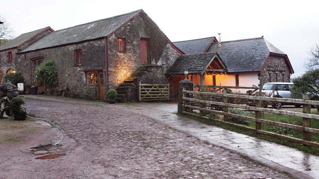 An old barn has been converted into a tea room and shop