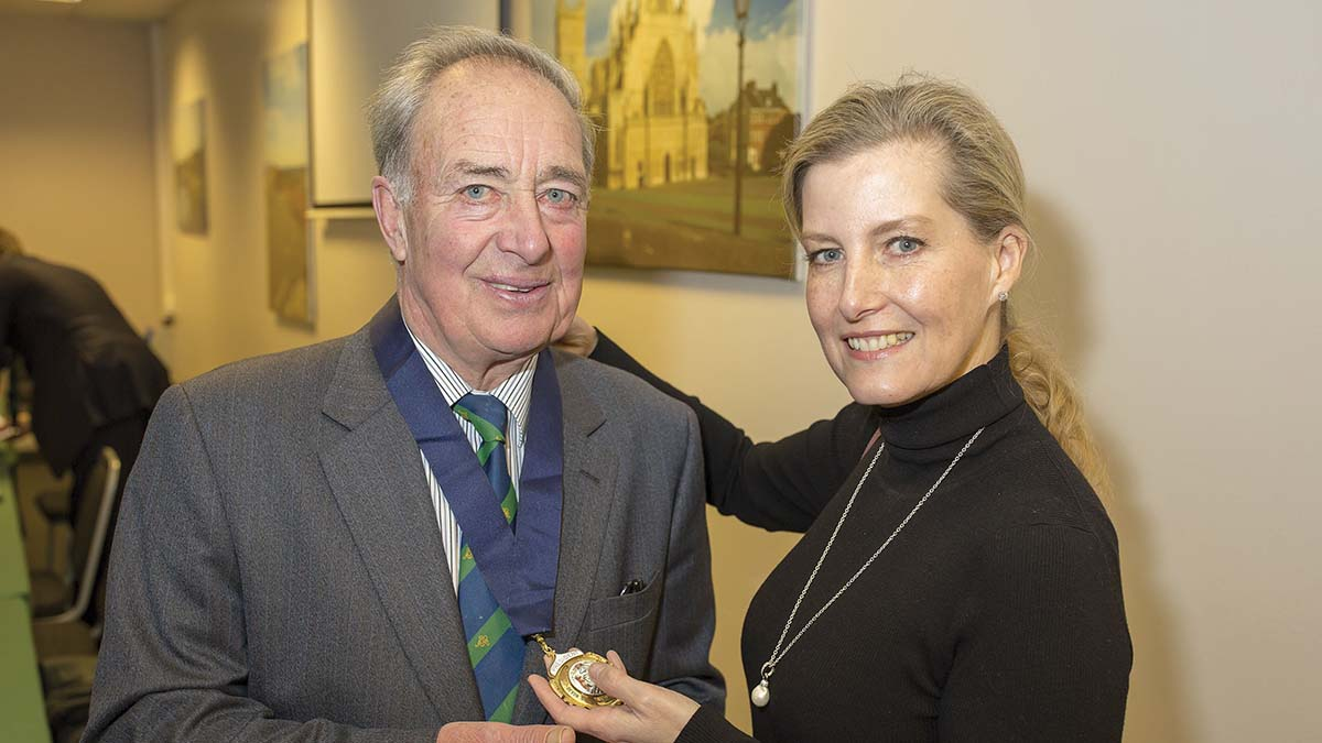 Edward Darke with outgoing president HRH The Countess of Wessex.