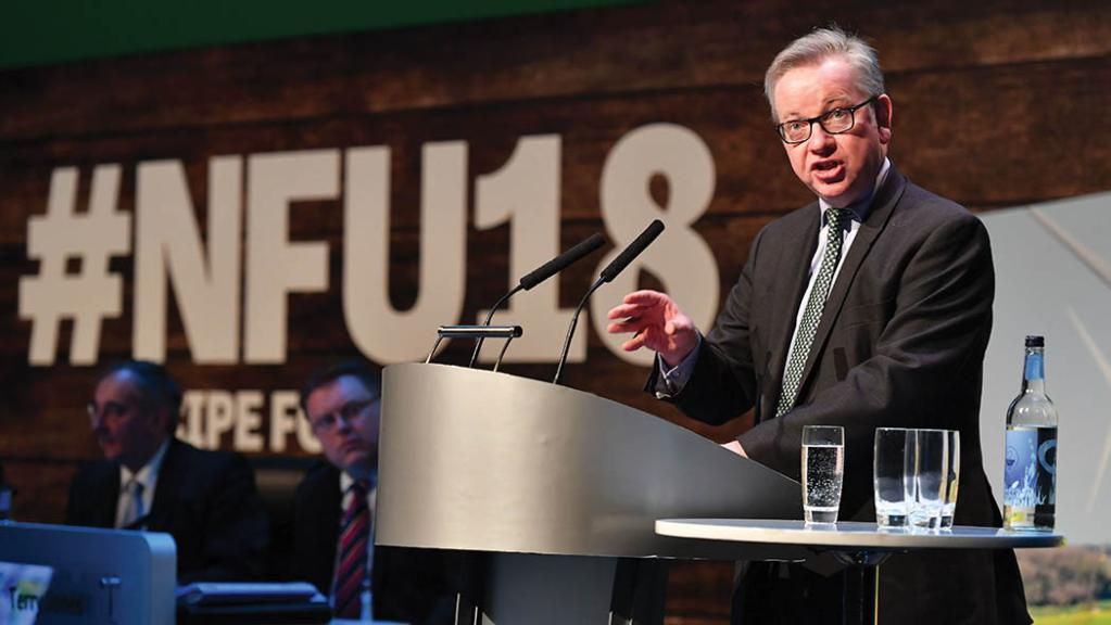 Gove ready to take on 'vested interests' represented by NFU