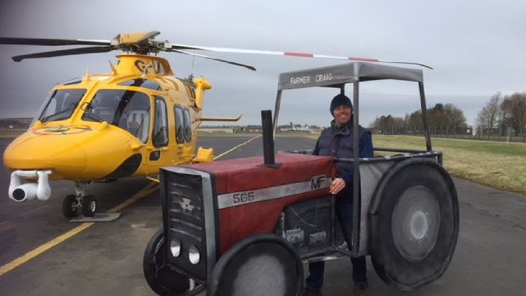 Farmer attempting bizarre London Marathon world record dressed as tractor