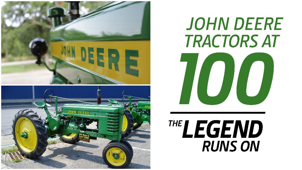 IN PICTURES: Celebrating 100 years of John Deere tractors