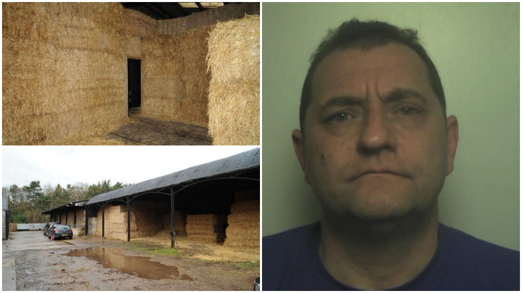 JAILED: Criminal caught running cannabis factory in 'secret haystack rooms' on farm