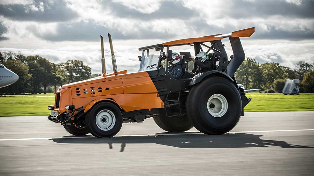 IN PICTURES: Introducing the world's FASTEST tractor - at 87.2mph