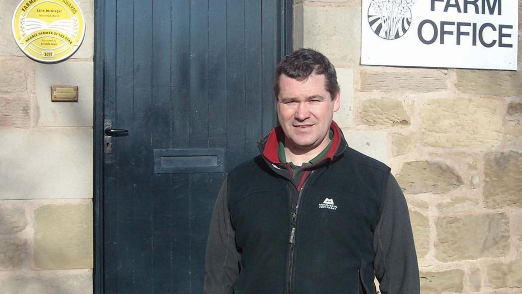 David Fuller, farmer, Coldstream Mains, Berwickshire. Grafton drilled September 4, KWS Lili drilled September 20.