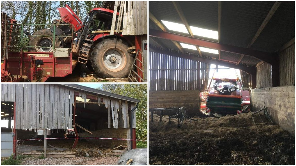 Lucky escape for farmer after being thrown from tractor