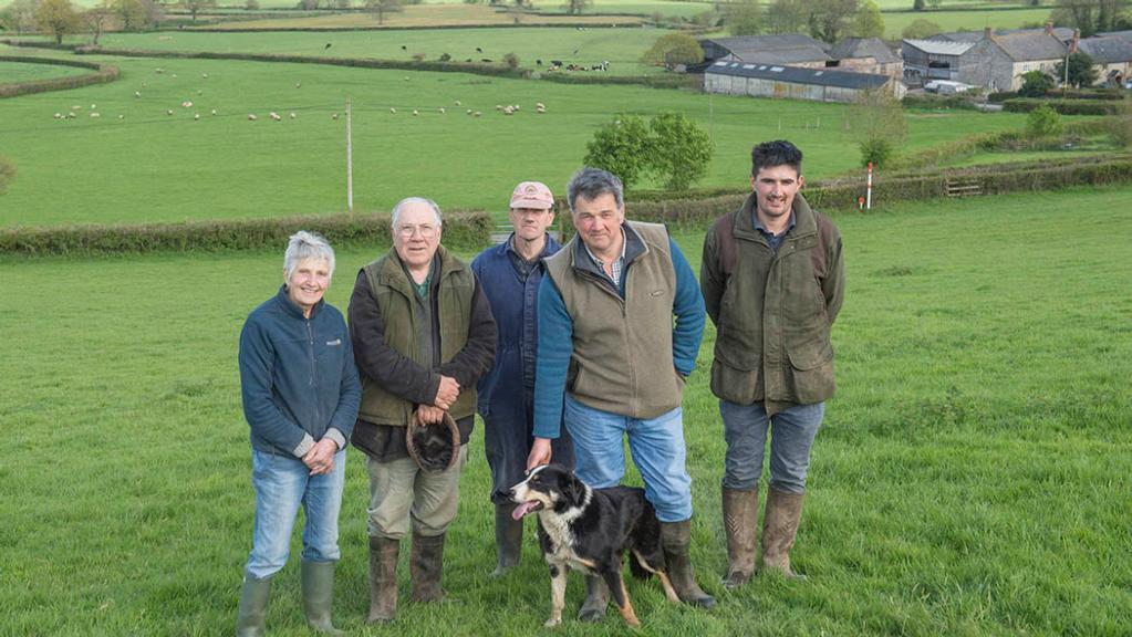 From left: Hilary, Henry, Robert, Peter and Phillip Derryman.