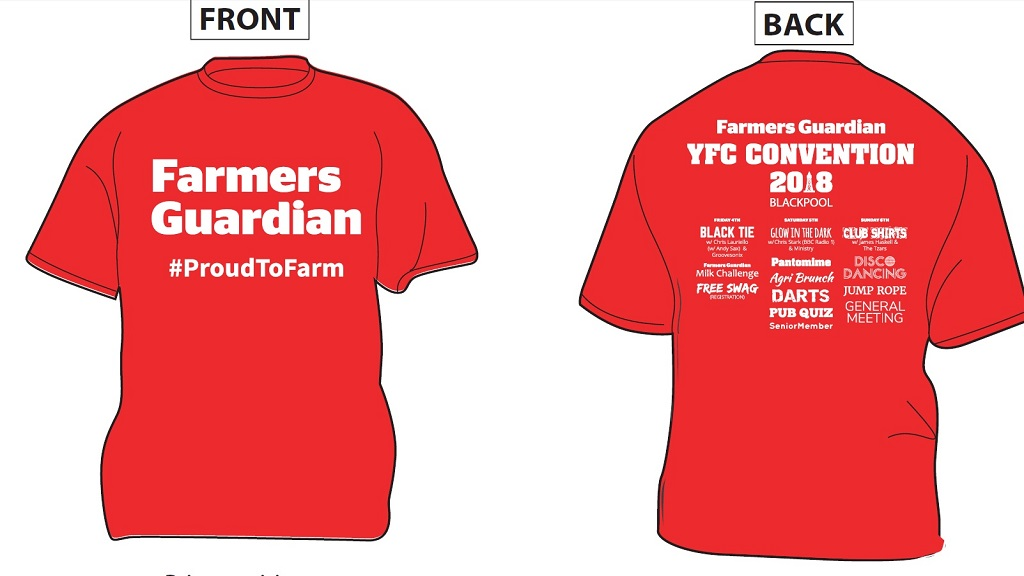 YFC AGM 18: How to get your hands on a RED Farmers Guardian t-shirt