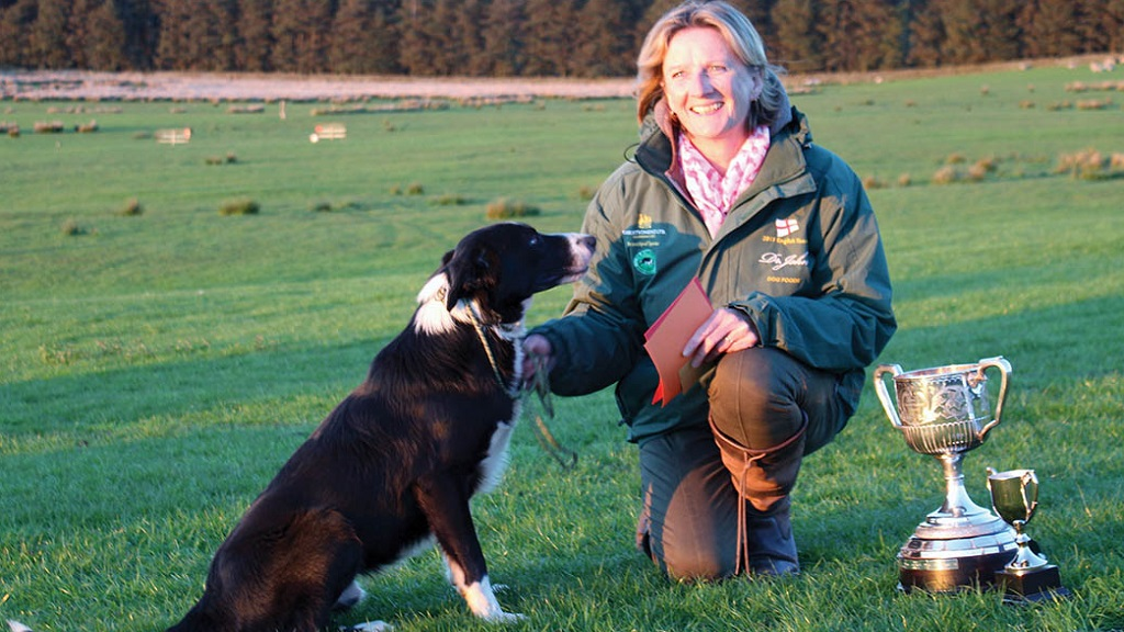 Working dogs: Shirley Cropper and Rob win Yorkshire championship