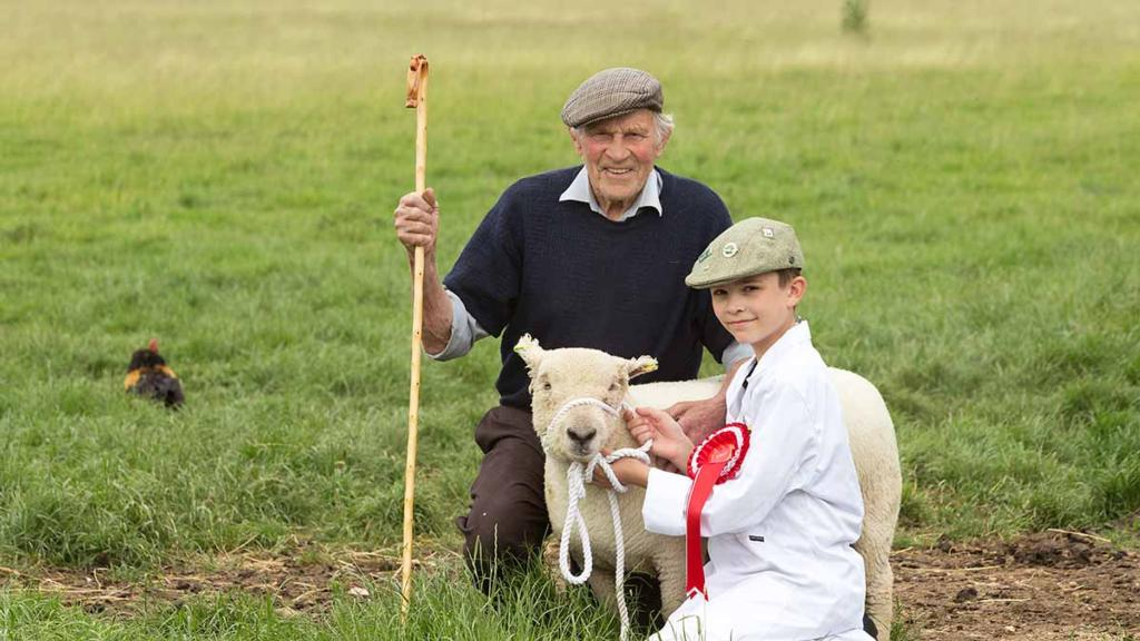 Backbone of Britain: 86 year-old grandad inspires 12 year-old grandson to farm