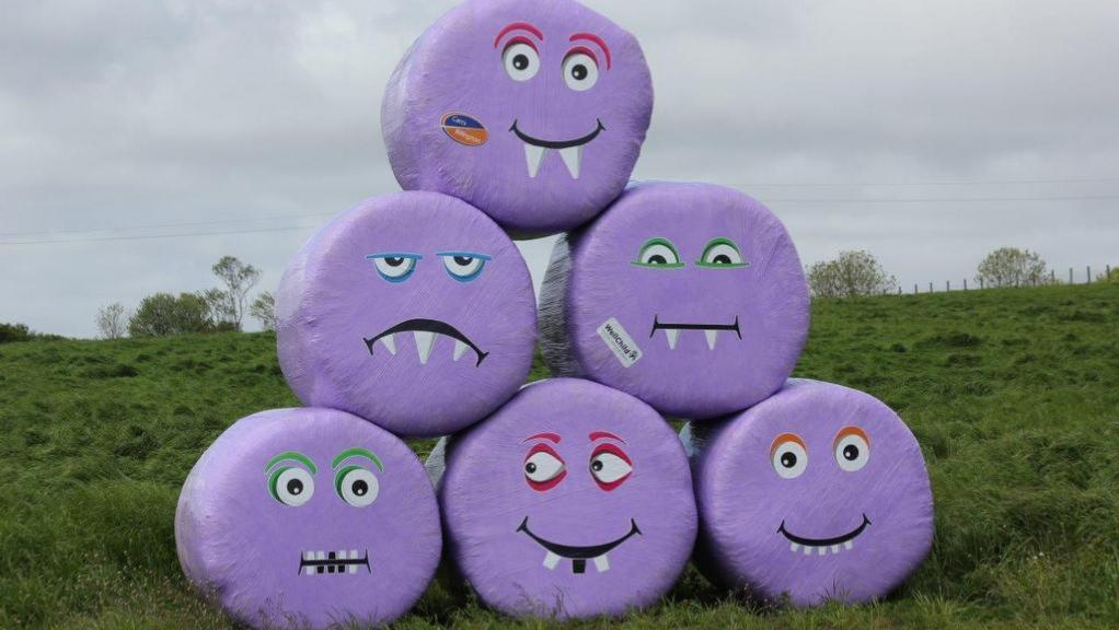 Turn your bales into purple critters to raise money for children's charity