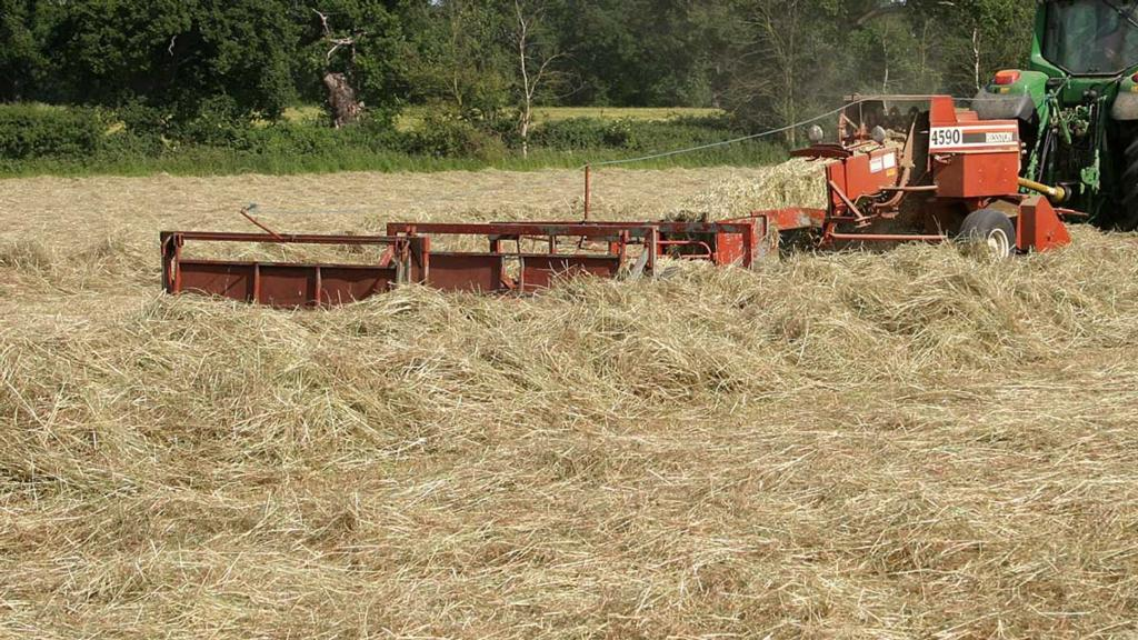 Two 14-year-olds caught attempting to set fire to hay bale inside baler