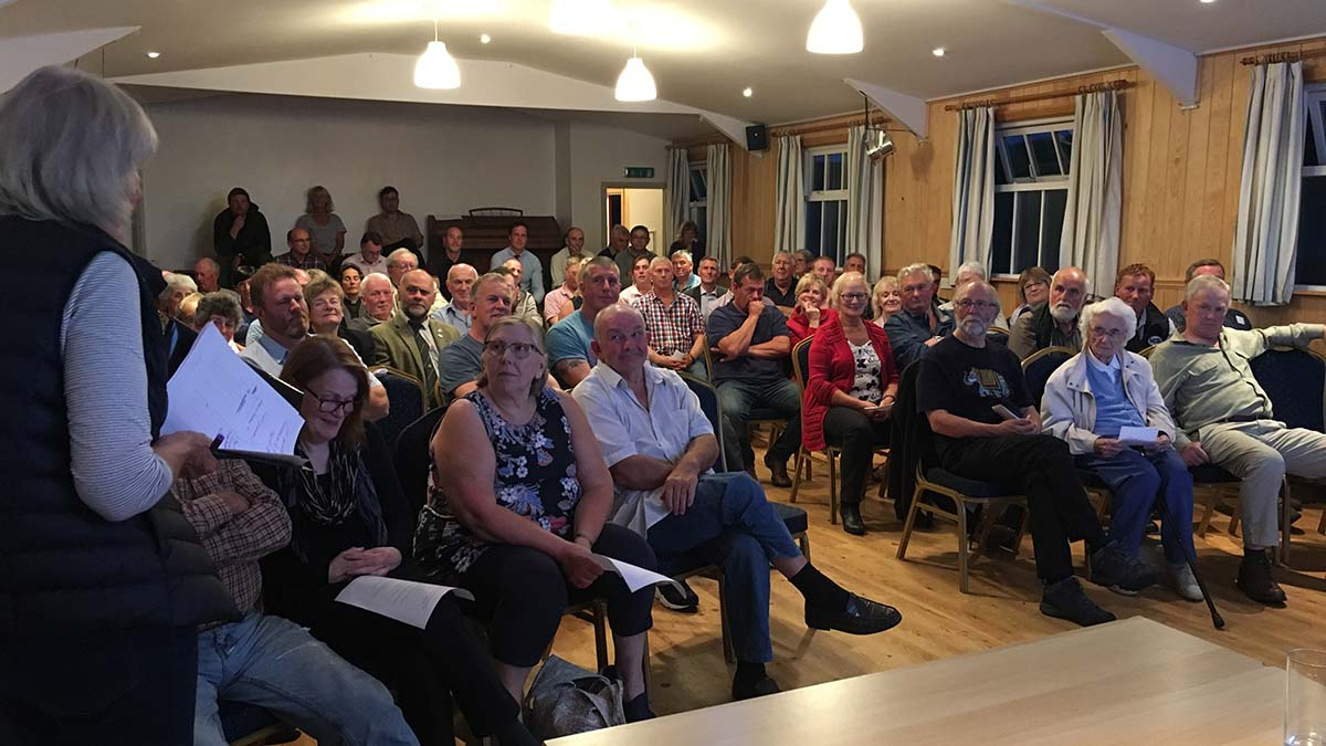 Delegates at the meeting, held at Tarset Village Hall, Northumberland on Tuesday (August 21).